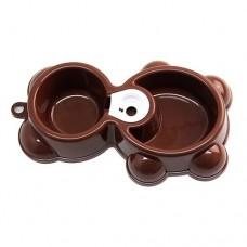 Ciotola doppia a forma di orsetto con sistema di riempimento acqua automatico 26 cm